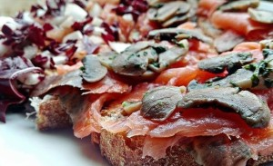 24. salmone funghi radicchio - vertige