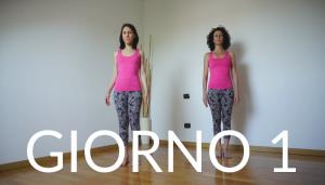 Giorno 1 Montagna Tadasana Yoga