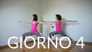 Giorno 4 Eroe II - (VIRABHADRASANA II) Yoga