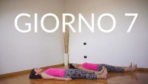 Giorno 7 Cadavere (SAVASANA) Yoga