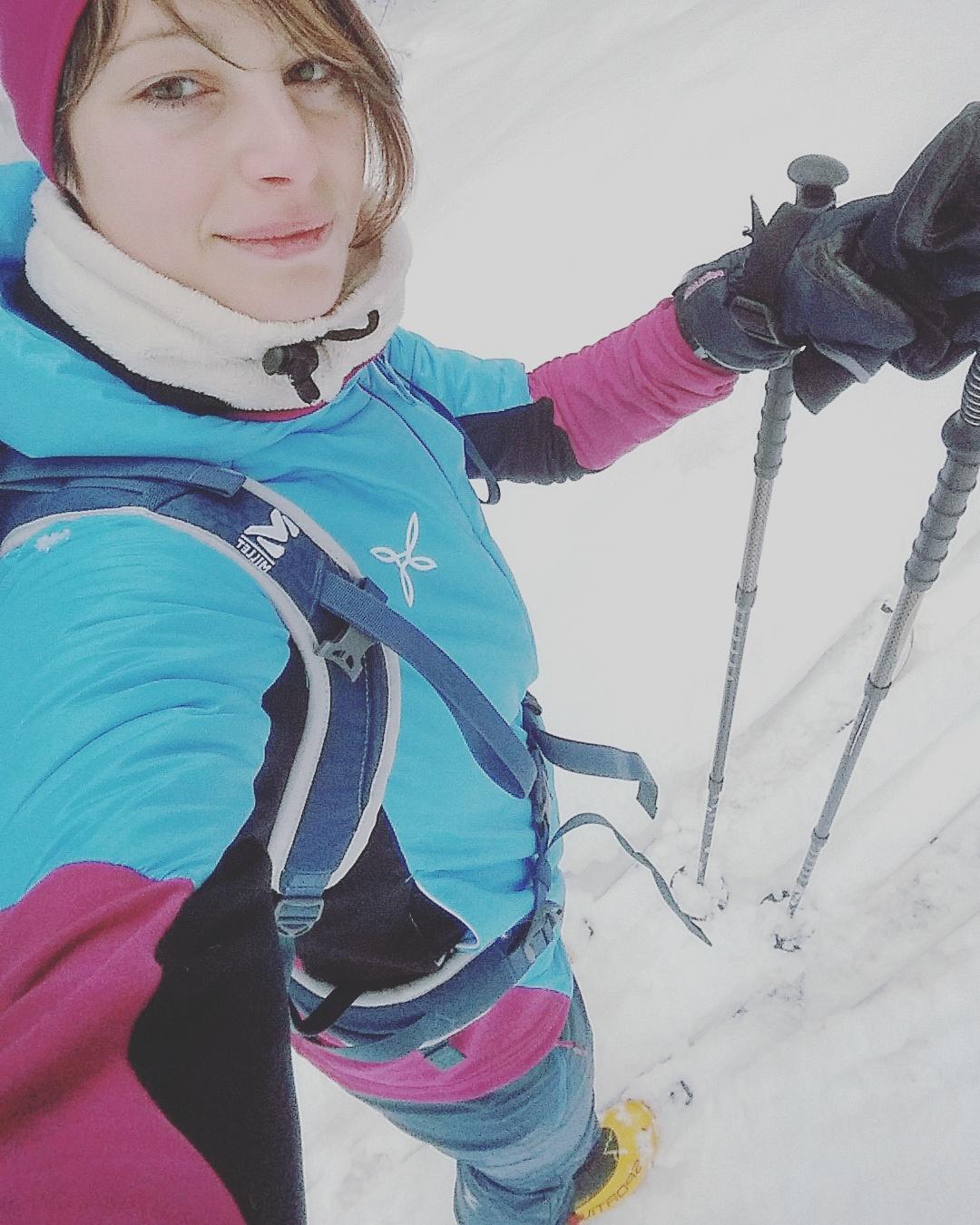 laura palluello ski alp vertige