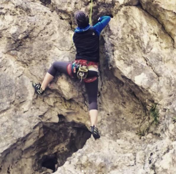 laura arrampicata vertige
