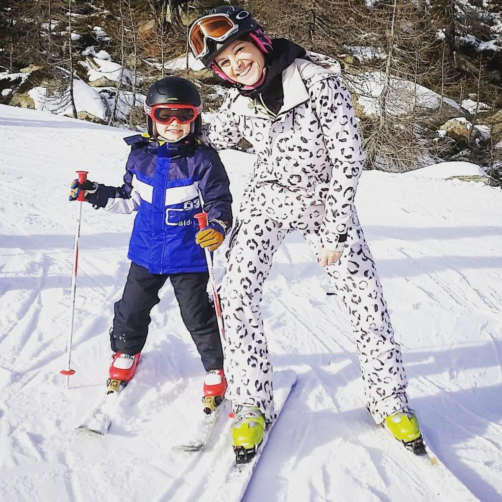 mamma sportiva sci vertige 1